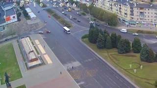 ДТП (авария г. Волжский) пр. Ленина ул. Энгельса 28-10-2016 07-44