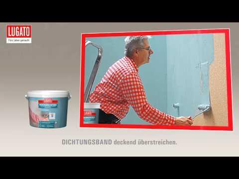 Anleitung: Abdichtung: Dusche und Bad dauerhaft wasserdicht mit Lugato Duschabdichtung