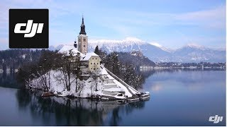 DJI S800 Flying over the Bled Lake in Slovenia