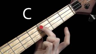 Learn Bass Guitar - Scales & Chord Tones - part 1