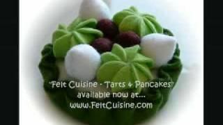 Felt Crafts - Felt Food Tarts / Pancake Patterns, From The Felt Cuisine Series - By Hiromi Hughes