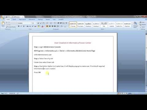 Informatica Administration Training Tutorial 6 - User Creation in Administrator Console