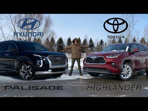 2021 Toyota Highlander Hybrid VS Hyundai Palisade - The Big Daddies