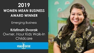 WomenVenture - Kristinah Dvorak - Emerging Business Award Winner
