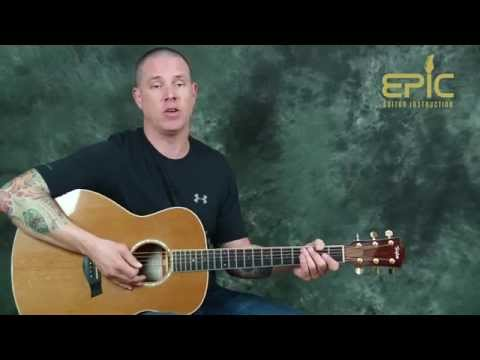 Learn how to play Dwight Yoakam Guitars Cadillacs country guitar song lesson on acoustic