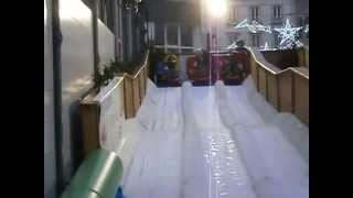preview picture of video 'une petite descente en luge  noél 2014 CHERBOURG OCTEVILLE'