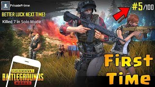 FIRST TIME Playing PUBG MOBILE  | English Version /Global Launch | Android gameplay