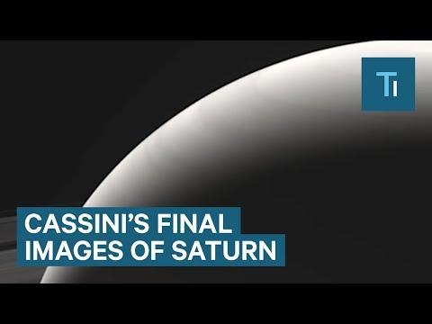 Last images of Saturn from NASA's Cassini spacecraft