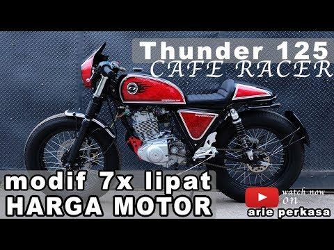 modifikasi thunder 125 caferacer