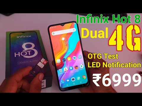 Infinix Hot 8 Dual 4G VoLTE,Dual Jio Sim,OTG Support, Native Video Calling,LED Notification Test