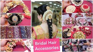 Bridal Hair Accessories/ Veni,Hair Bun, Flower Jewellery Ect