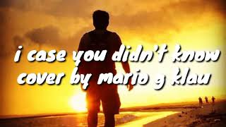 Brett Young - i case you didn't know cover by - Mario G Klau