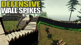 DEFENSIVE WALL SPIKES | The Forest | Let's Play Gameplay | S14E36