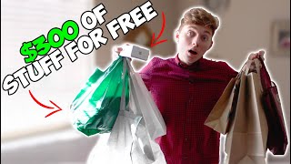 I Went To 100 DIFFERENT STORES And ASKED FOR FREE STUFF (It Worked!)