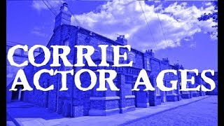 Coronation Street Cast Ages! Countdown Of The Actor's Ages From Youngest To Oldest! Age 11 - 87!