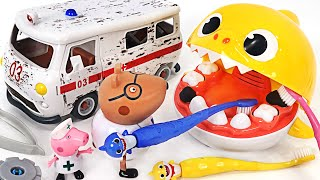 A big crocodile has appeared!! Exciting alkagi game with baby shark friends!   PinkyPopTOY