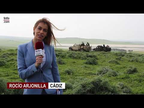Pruebas del mortero Dual-Eimos de Expal en el campo de adiestramiento Sierra del Retín (Cádiz)