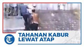 Video Detik-detik Penangkapan Tahanan yang Kabur Lewat Atap Polres Lumajang