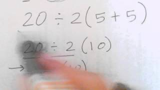GED Study Guide Group  - Order of Operations Multiplication and Division