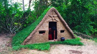 Secret Of Primitive: Building House Underground