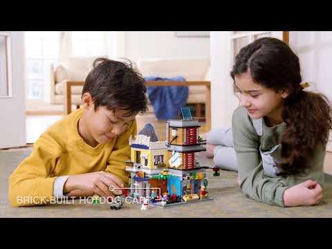 LEGO® Creator 31097 Dućan za kućne ljubimce i kafić Gradska kuća