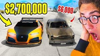 $6,000 CAR vs. $2,700,000 SUPERCAR in GTA 5!
