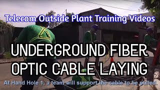 Underground Fiber Optic Cable Laying