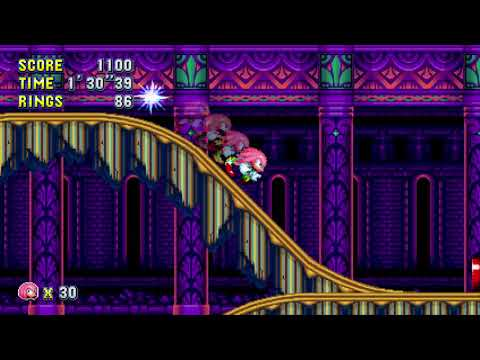 Sonic Mania: Mirage Saloon Zone Act 1 (Super Knuckles) [1080 HD