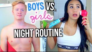 Night Routine Guys Vs. Girls   MyLifeAsEva
