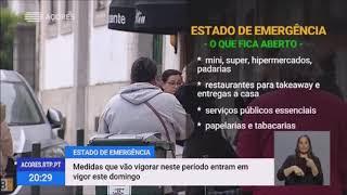 22/03: Medidas do Estado de Emergência que entram em vigor hoje