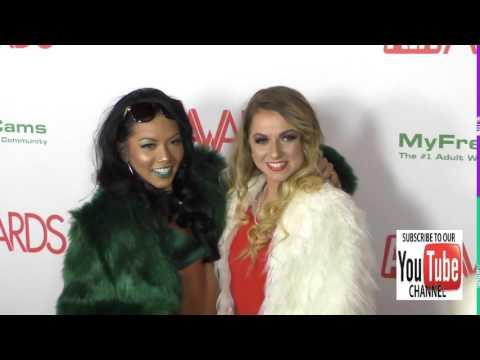 Alana Summers and Morgan Lee at the 2017 AVN Awards Nomination Party at Avalon Nightclub in Hollywoo