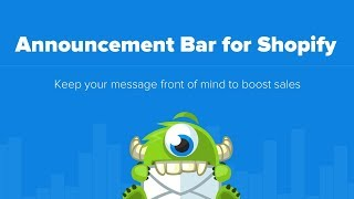 How to create an Announcement bar for Shopify