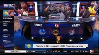POSTGAME REACTION: Curry leads Warriors Sweep Blazers 119-117 (OT) to advance to NBA Finals