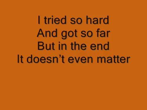 Linkin PArk-Enth e nd(with lyrics)