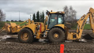 Hydrema 906F And 926F Digging Mud At Hydrema Days 28 Dec 2018