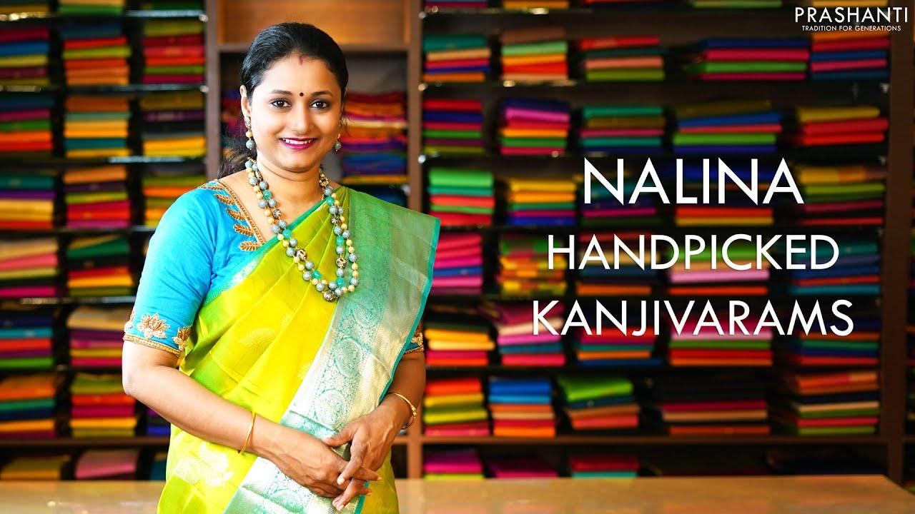 """<p style=""""color: red"""">Video : </p>Nalina Handpicked Kanjivarams   2 Dec 2020   Prashanti 2020-12-02"""