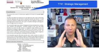EMBA T741 - Dr  Nick Bontis - Introduction and Course Outline
