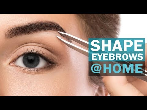 How to shape eyebrows at home | Beginners | Self Shaping