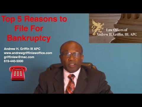 Top 5 Reasons Why to File Chapter 13 Bankruptcy - www.andrewgriffinlawoffice.com