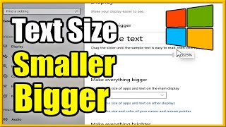 How to make FONT & TEXT Smaller or Bigger on Windows 10 Computer (Fast Method!)
