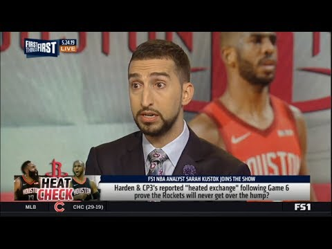 First Things First | Harden & CP3 reported heated exchange following prove  Rockets never over hump?