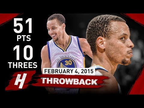 The Game Stephen Curry Became The Greatest Shooter EVER vs Mavericks 2015.02.04 - 51 Pts, 10 Threes!