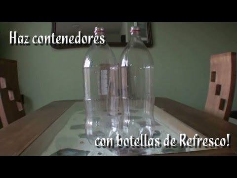 Como hacer contenedores con botellas de plastico