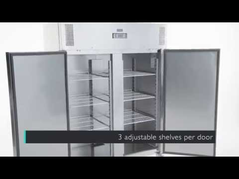 Video Polar RVS vrieskast  - 1300 liter - U635