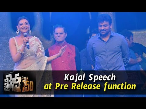 Kajal Aggarwal Speech at Khaidi No 150 Pre-Release Event