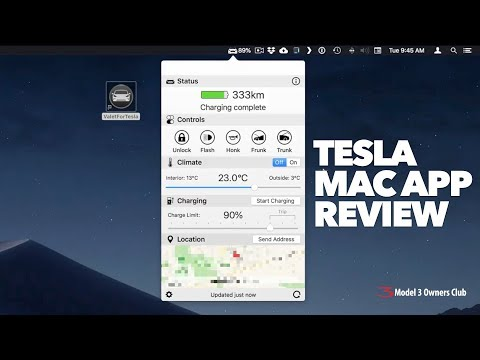 Tesla Mac App review. Control your Tesla from your Mac!