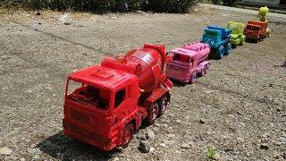 Mainan Mobil Truk - Menyemprot Mobil Truk Tangki Air, Semen ,Box, Mobil Pasir, Aspal, Eskavator