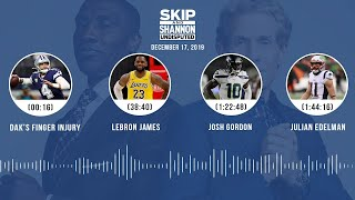 Dak's finger injury, LeBron James, Josh Gordon, Julian Edelman | UNDISPUTED Audio Podcast