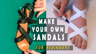 Making Leather Sandals | With NO Shoemaking Tools [2020 Updated Video Tutorial]