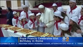 Pope Francis Celebrates 81st Birthday In Rome